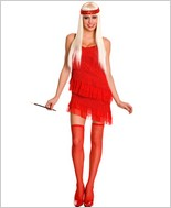 Red Hot Sexy Flapper Dress ML-70413