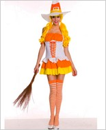 Witty Candy Corn Witch Costume ML-70423