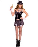 Sexy Gangster Girl Costume ML-70450