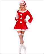 Adult Sleigh Hottie Santa Costume ML-70457