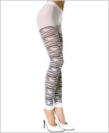 Music Legs® Opaque Zebra Design Leggings ML-70461