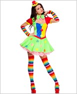 Adult Polka Dot Clown Costume ML-70471