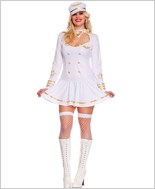 Adult Plus Size First Class Pilot Costume ML-70472Q
