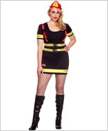 Adult Plus Size Fire Hazard Honey Costume ML-70482Q