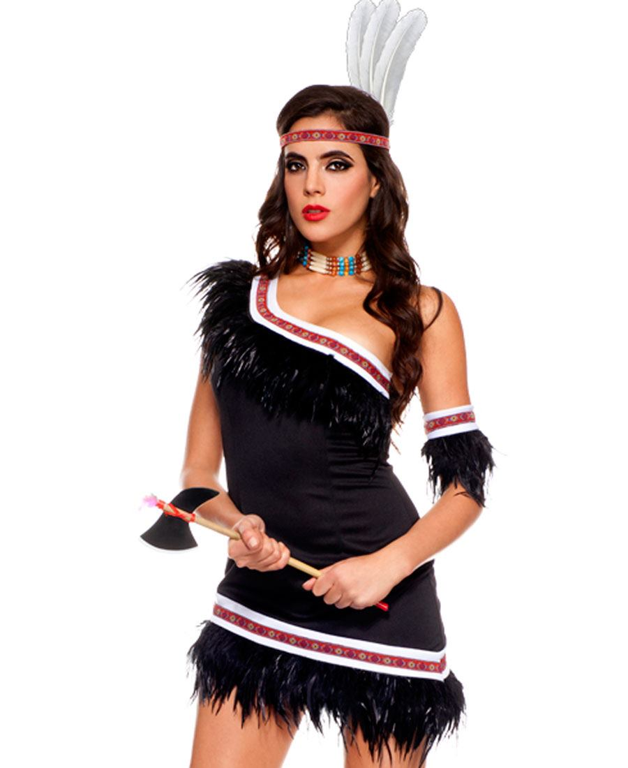 Adult Huron Honey Indian costume ...  sc 1 st  Wholesale Lingerie & Adult Huron Honey Indian Costume ML-70484