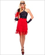 Adult Fiery Flapper Costume ML-70487