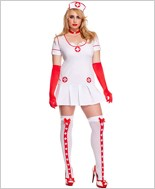 Adult Plus Size Racy Nurse Costume ML-70489Q