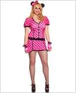 Adult Plus Size Polka Dot Mouse Costume ML-70492Q