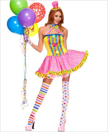 Adult Circus Cutie Clown Costume ML-70494