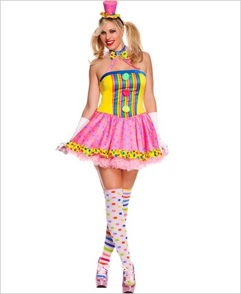 Adult Plus Size Circus Cutie Clown Costume ML-70494Q