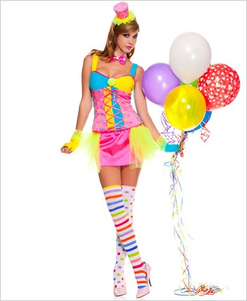 Adult Miss Clowning Around Clown Costume ML-70495