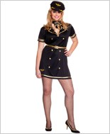 Adult Plus Size Foxy Flight Attendant Costume ML-70500Q