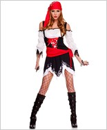 Adult Pirate Vixen Girl Costume ML-70518