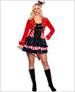 Adult Plus Size Ravishing Ring Mistress Costume ML-70521Q