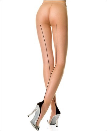 Backseam Pantyhose With Cuban Heel ML-7096