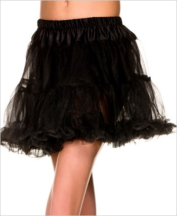Black Single Layer Petticoat ML-711-Black