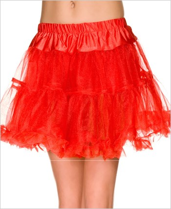 Red Single Layer Petticoat ML-711-Red