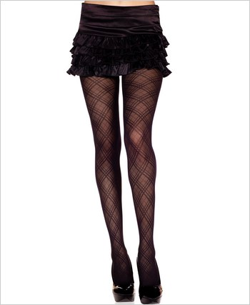 Music Legs® Argyle Tights ML-7137