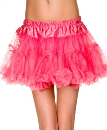 Double Layer Mesh Petticoat ML-721-Red