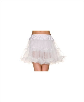 Double Layer Mesh Petticoat ML-721-White