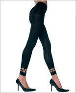 Music Legs® Spandex Leggings With Diamond Net Trim ML-7238