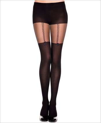Pantyhose With Faux Thigh Highs