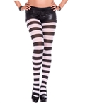 Plus Size Wide Striped Tights ML-7419Q