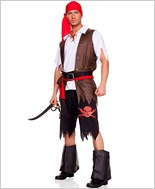 Adult Mens Swashbuckling Pirate Costume ML-76008