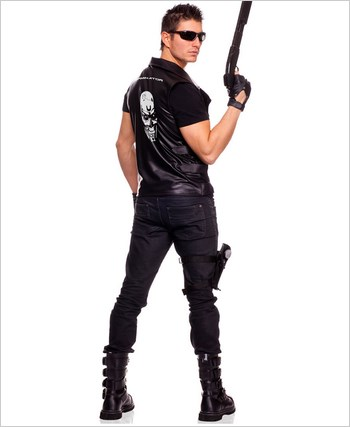 Adult Mens Terminator Vest Costume ML-76010