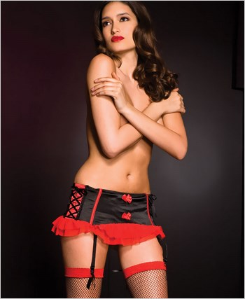Black And Red Garter Skirt ML-7717