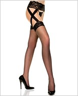 Sheer Garter Belt Stockings