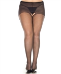 Plus Size Crotchless Sheer Pantyhose ML-800Q