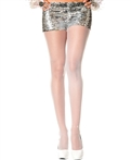 Faux Rhinestones on Ankle Sheer Pantyhose ML-875