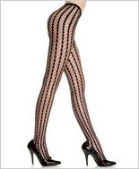 Music Legs® Seamless Stripes Crochet Pantyhose ML-9010