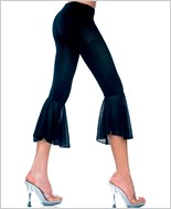 Mesh Bell Bottom Capri Pants