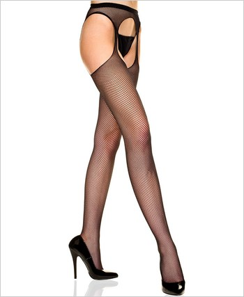Fishnet Suspender Seamless Pantyhose ML-903