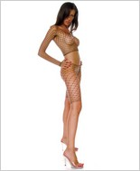 Music Legs® Diamond Net Long Sleeve Top And Pants ML-9175