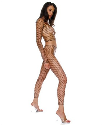 Music Legs® Diamond Net Long Sleeve Top And Pants ML-9177