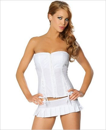 Roma® Corset Top And Matching Pleated Skirt RC-2692L