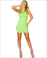 Cropped Mini Dress with Open Back RC-3129-Lime