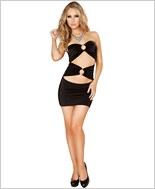 Cut out Tube Dress with O-Ring Detail  RC-3130-Black