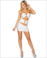 Cut out Tube Dress with O-Ring Detail  RC-3130-White