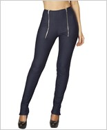 Pants with Zip Front and Zip up Cuffs  RC-3168-Blue