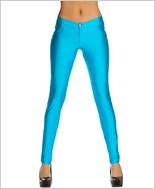 Button Front Pants with Pocket Detail  RC-3174-Turquoise