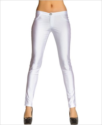 Button Front Pants with Pocket Detail  RC-3174-White