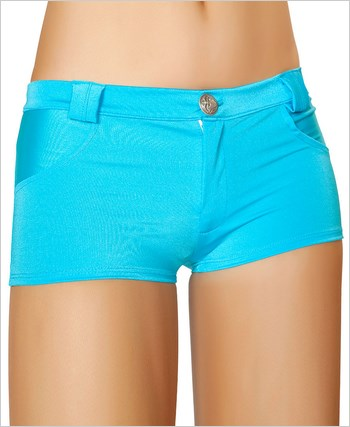 Shorts with Pocket Detail  RC-SH3066-Turquoise