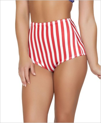 Pinup Style High-Waisted Shorts  RC-SH3090-American Flag