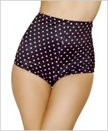 Pinup Style High-Waisted Shorts  RC-SH3090-Black/Pink