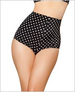 Pinup Style High-Waisted Shorts  RC-SH3090-Black/White