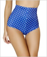 Pinup Style High-Waisted Shorts  RC-SH3090-Blue/White